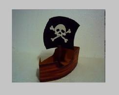 Barco Pirata em MDF Enfeite /Lembran�a