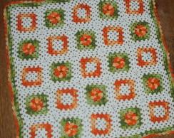 Toalha de Croch� Laranja