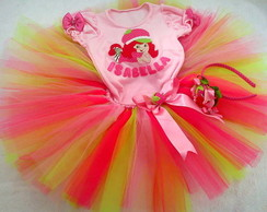 Conjunto tutu moranguinho Fashion
