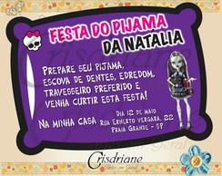 Convite almofada Roxo Monster High