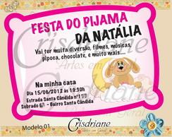 Convite Travesseiro Rosa