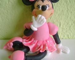 Topo de Bolo Minie Rosa