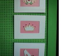 Trio quadros para quarto de menina