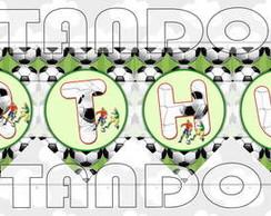Varal com nome - Futebol.