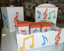 """kit  para beb� em mdf """" Notas Musicais"""""""