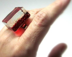 Anel de Vidro / RED Glass Ring