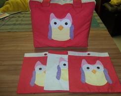 Bolsa e saquinhos coruja