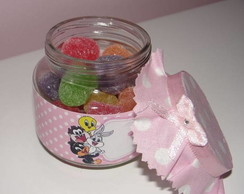 Potinho de vidro para doces