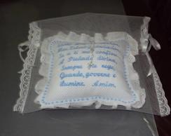 Mini travesseiro ora��o azul