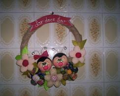 Guirlanda de casal  joaninha em biscuit