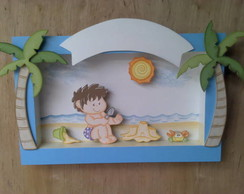 Porta Maternidade Menino Praia