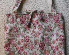 Bolsa tiracolo patchwork dupla face