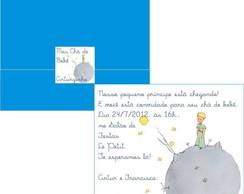 Convite ch� de beb� Pequeno Pr�ncipe
