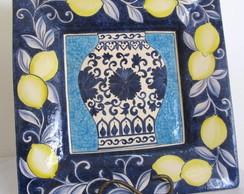 Prato Decorativo Grande Cer�mica