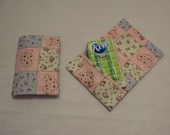 Porta len�o de papel patchwork rosa