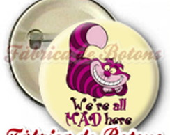 BOTON 2,5cm CHESHIRE CAT ALICE NO PA�S