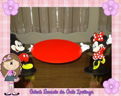 Bandeja de MDF com Personagens Minnie