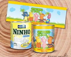 R�tulo para lata de leite Ninho 400g