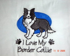 "Camiseta ""I Love My Border Collie"""