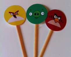 { Angry Birds - palitos decorados }