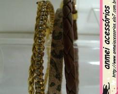 Conjunto de pulseiras animal print