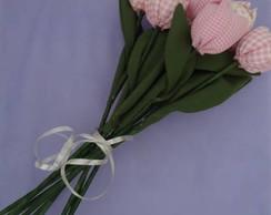 flores de tecido- tulipas