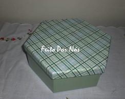 Caixa Sextavada Verde