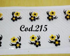 Flor preta com amarelo