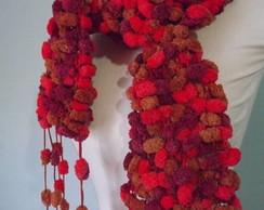 Cachecol bolinha vermelho