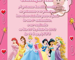 Convite Convoca��o Real - As Princesas