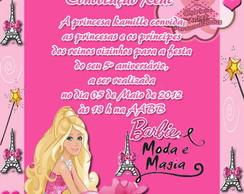 Convite Convoca��o Real - Barbie