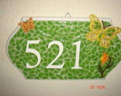Placa Mosaico N�mero Casa