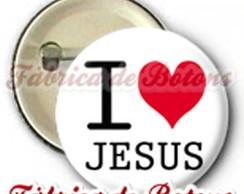 BOTON 2,5cm I LOVE JESUS
