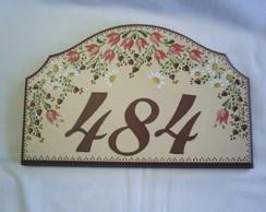Placa Recortada com numeral  DP 31 vend.