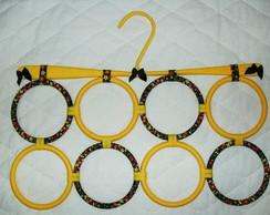 Porta len�o e cachecol Amarelo com preto