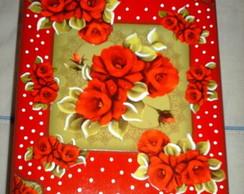 Cx p 12 albuns vermelho