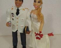 noiva enfermeira e noivo policial