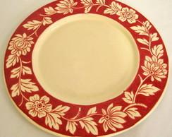Prato Sousplat vermelho cer�mica