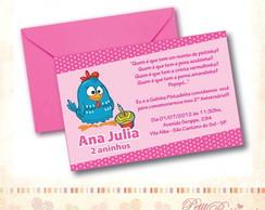Convite Galinha Pintadinha - Rosa