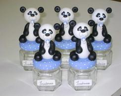 Ursinho Panda em Biscuit sobre o Potinho