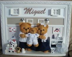 Fam�lia Miguel Bege e Azul Marinho