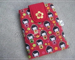 Case para Ipad/Tablet *Red Kokeshis*