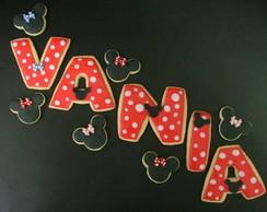 Biscoitos decorados - Letras e N�meros