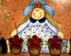 Caixa Menina com Vasos