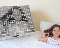 Caixa personalizada com foto em mosaico