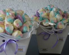Buqu� de marshmallows lil�s