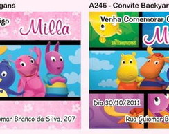 Convite Backyardigans + Envelope + Tag