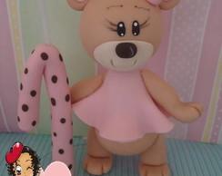 Ursinha marrom e rosa