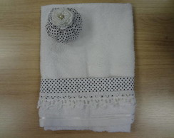 Kit toalha de lavabo + cherinho