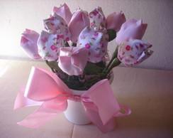 vasinho com tulipas